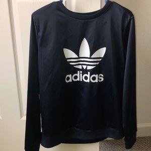 Adidas navy blue crewneck